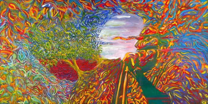 "Bob Marley • Gallery Wrap 24x48"" • Original Acrylic Painting on Canvas"