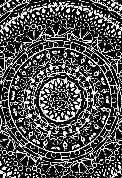 Freehand Pen | Mandala Drawings | Black Mandalas | Asheville, NC
