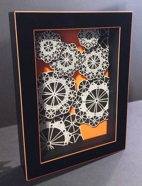 "Doodle 19 • 9x12"" Framed 11x14"" • Original 3D Colorful Pen Drawing"
