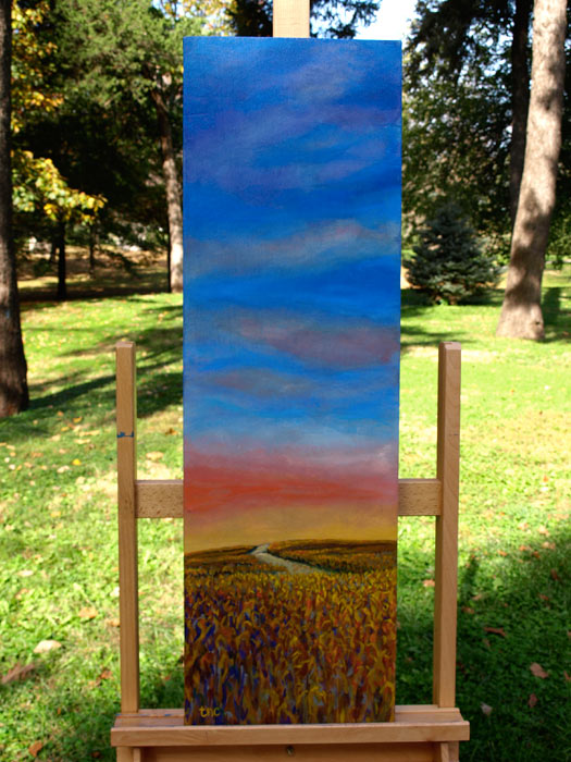 "Homeward Bound - 11x25"" Acrylic Painting Gallery Wrap"