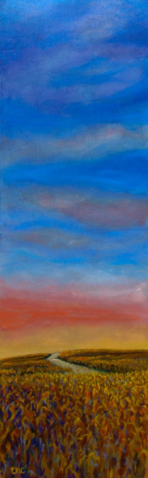 "Homeward Bound • Gallery Wrap 11x35"" • Original Acrylic Painting on Canvas"