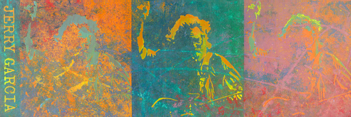 "Jerry Garcia • Gallery Wrap 16x48"" • Original Acrylic Painting on Canvas"