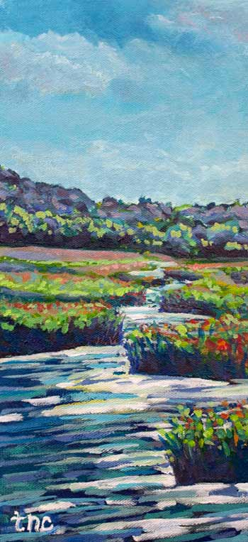 "Lakeside Meditation - 5 1/2"" x 12""  Acrylic on Gallery Wrapped Canvas"