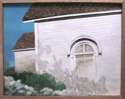 "McKinney TX Chapel • Framed 20x25"" • Original Acrylic Painting on Panel"
