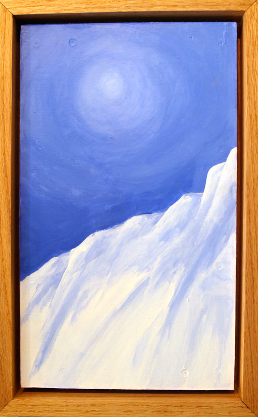 "Near Summit • Framed 12x20"" • Original Acrylic Painting on Board"