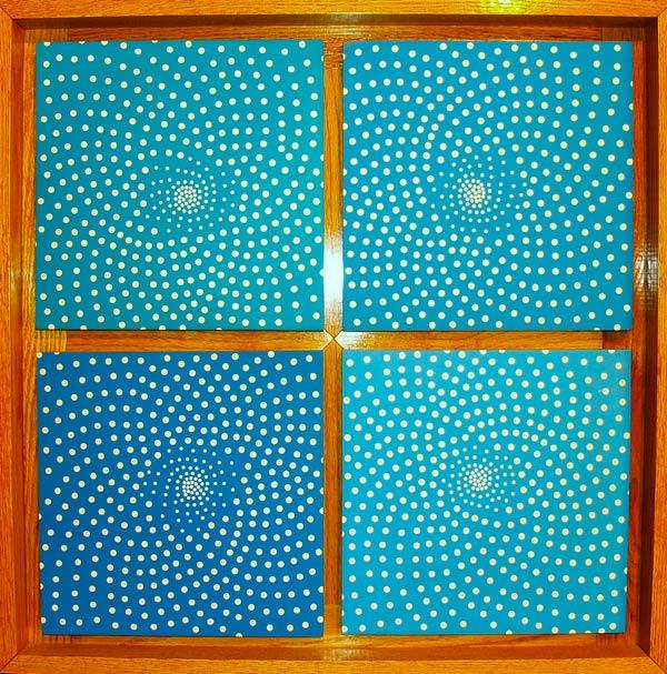 "Seadheads • Framed 30x30"" • Original Acrylic Painting on Board"