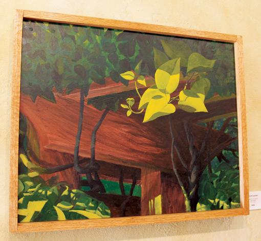 "Sunset Garden • Framed 20x24"" • Original Acrylic Painting on Board"