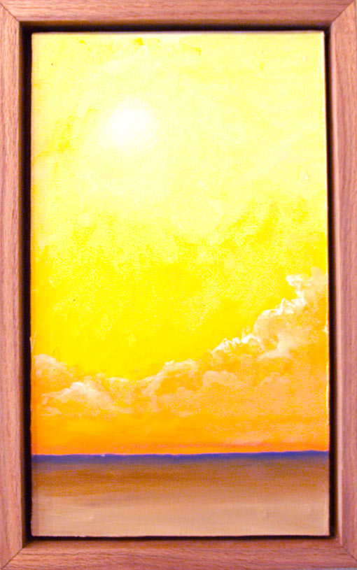 "Toasted Sunset • Framed 12x20"" • Original Acrylic Painting on Board"