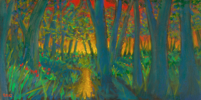 "Townlake Trail • Gallery Wrap 16x32"" • Original Acrylic Painting on Canvas"