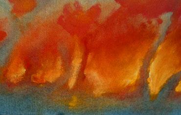 Mckinney Texas gives up a Melting Sunset