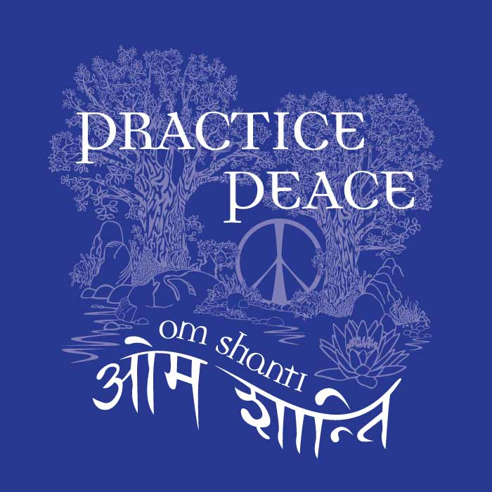 Practice Peace | Original Vector Illustration by Tom Cornish